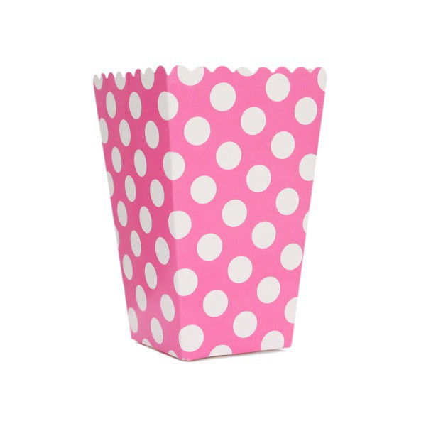 Boxes Fuchsia with White Dots for Pop Corn - Decochic