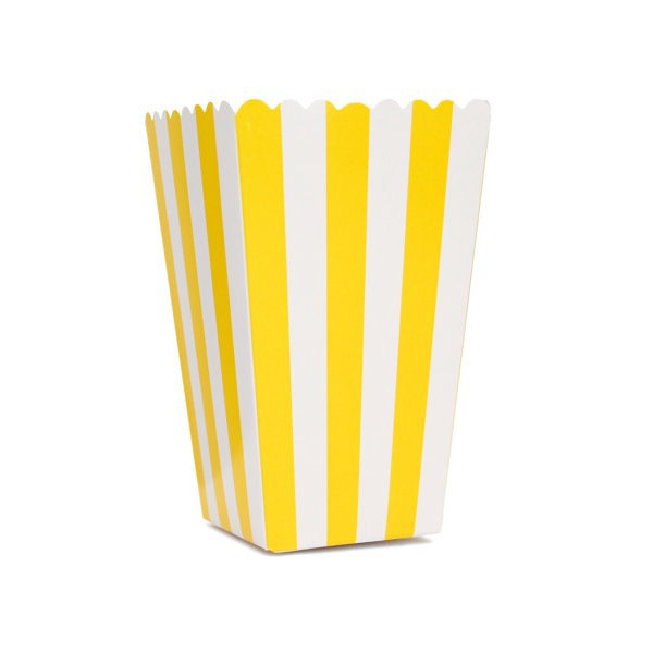 Yellow Striped Boxes for Pop Corn - Decochic