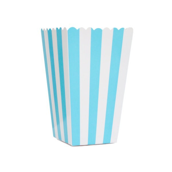 Blue Striped White Boxes for Pop Corn - Decochic