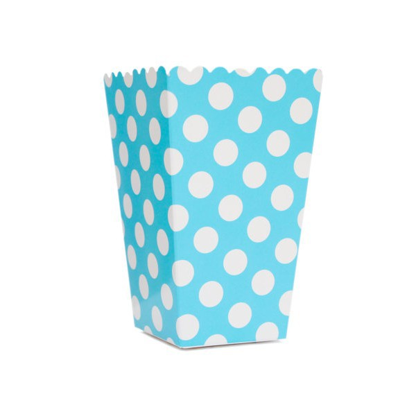 Blue Boxes with White Dots for Pop Corn - Decochic