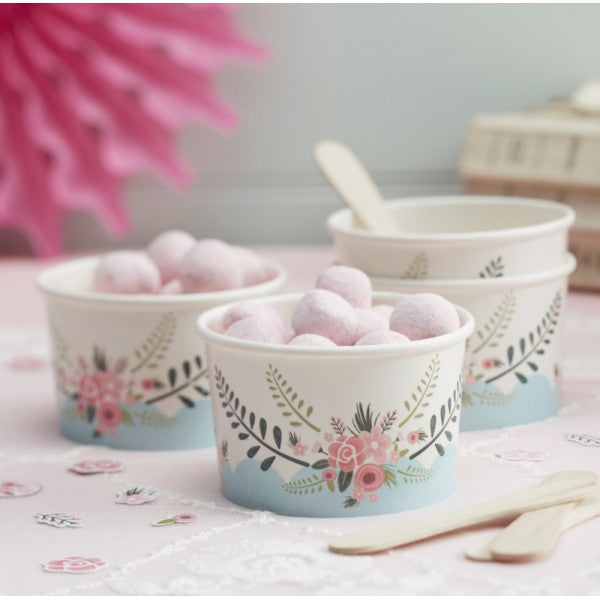 Flower Ice Cream Cups - Decochic