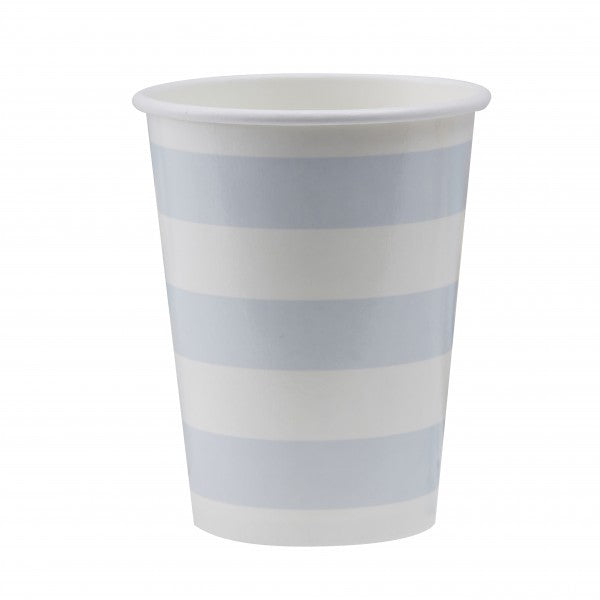 Blue and White Paper Cups - Decochic