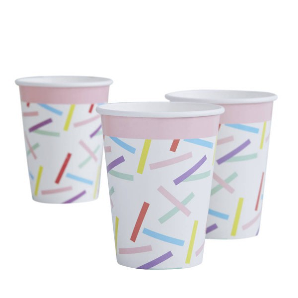 Vasos de papel multicolores - Decochic