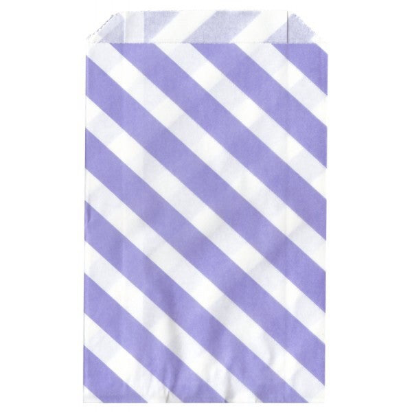 Lilac Striped Paper Bag - Decochic