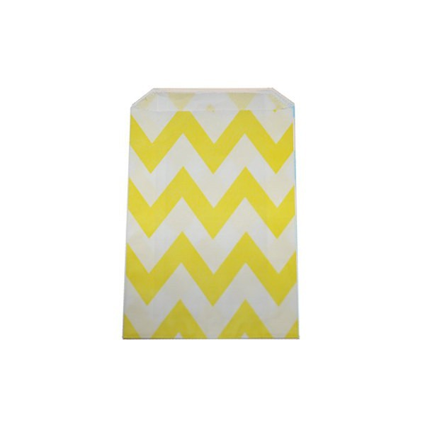 Yellow Paper Bag with Zig Zag - Decochic