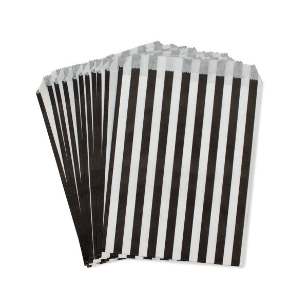 Black Striped Paper Bag - Decochic