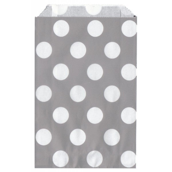 Gray Paper Bag with Polka Dots - Decochic