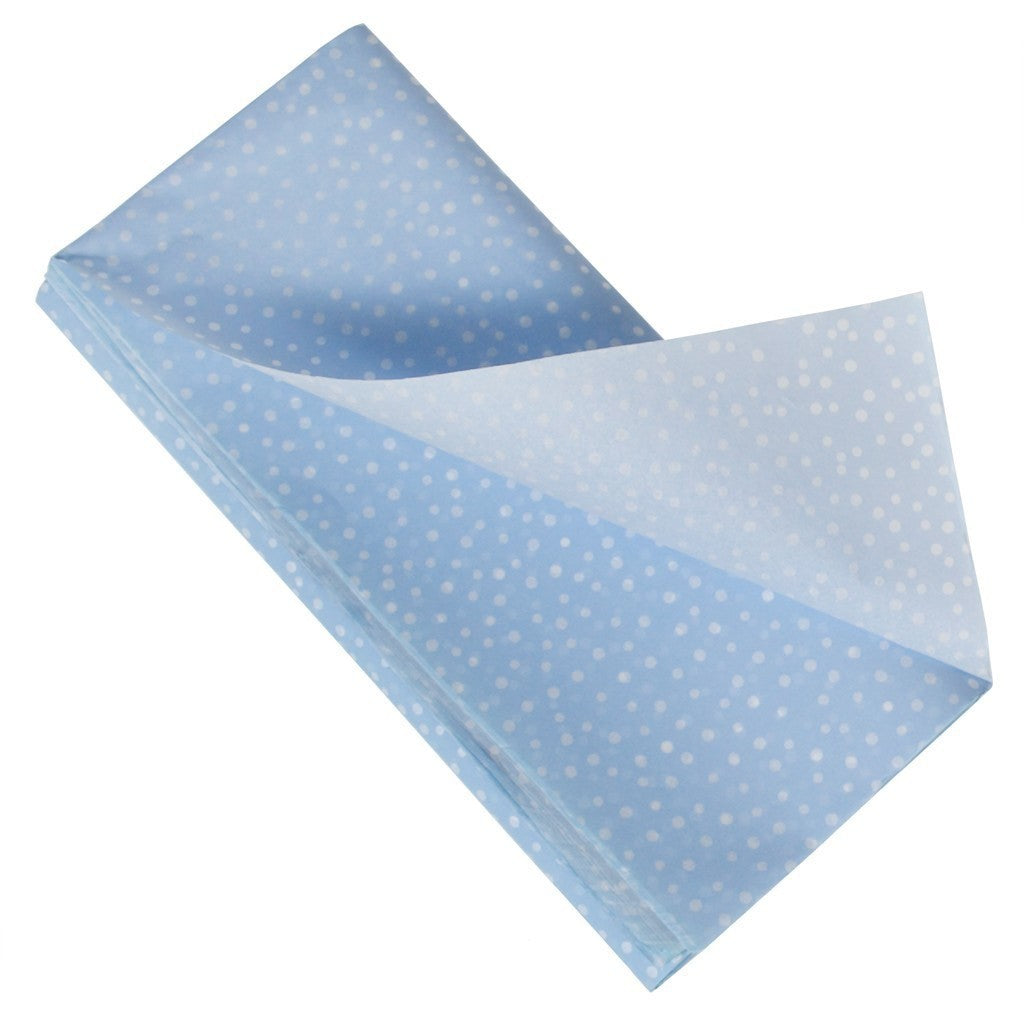 Carta Velina Azzurra with white polka dots - Decochic