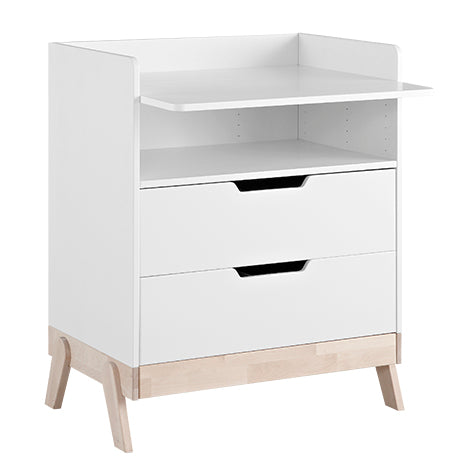 Convertible Changing Table with 2 LifeTime Drawers - Decochic