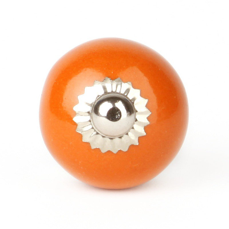 Bouton Céramique Orange - Decochic
