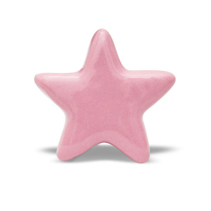 Bouton Céramique Rose Star - Decochic