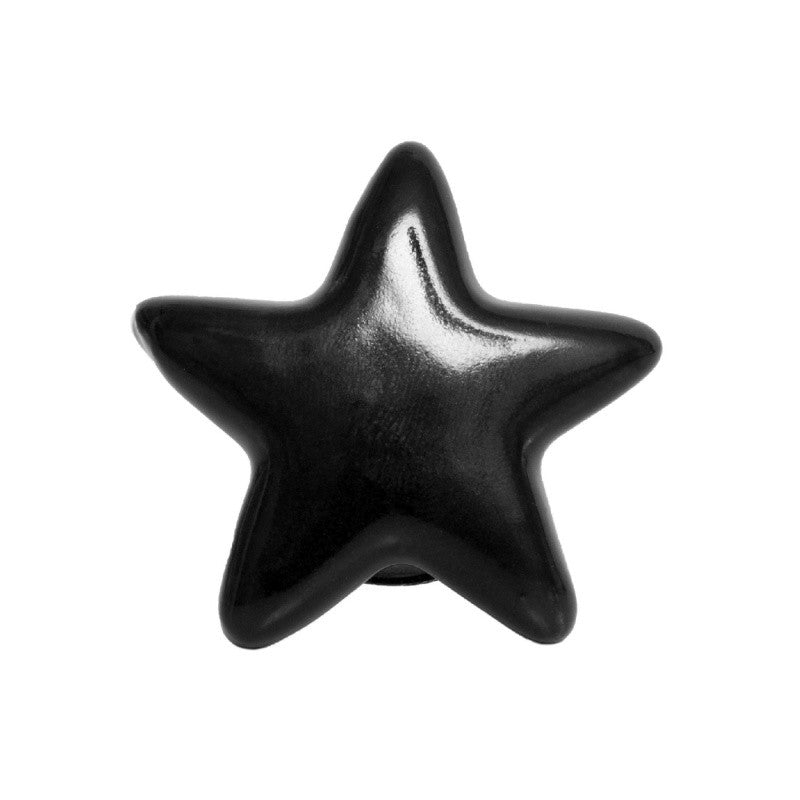 Black Star Keramikknopf - Decochic