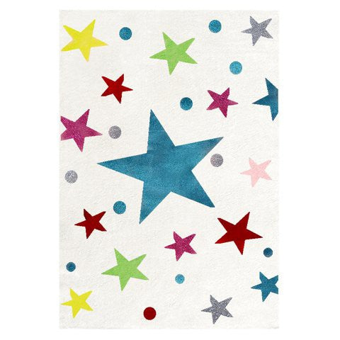 Tappeto Bianco a Stelle Colorate - Decochic