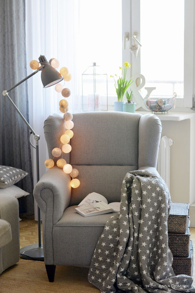 Amber Led Light Balls - Decochic