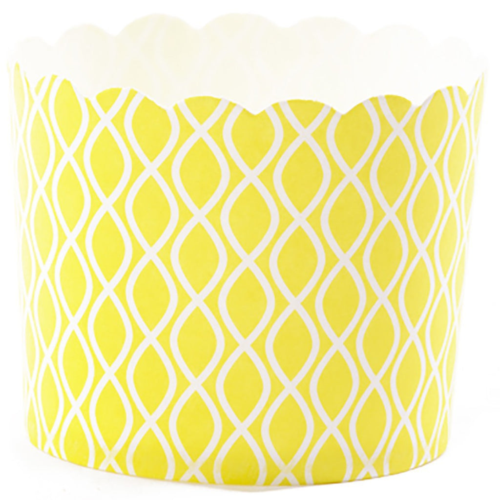 Big Yellow Baked Cup with White Waves - Decochic