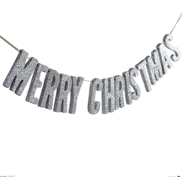 Garland In metallic Merry Christmas - Decochic wood