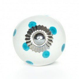 Pomello in Ceramica Bianco a Pois Tiffany - Decochic