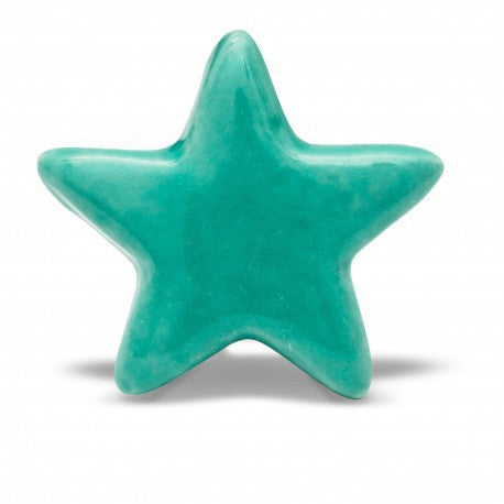 Tiffany Green Star Knob - Decochic