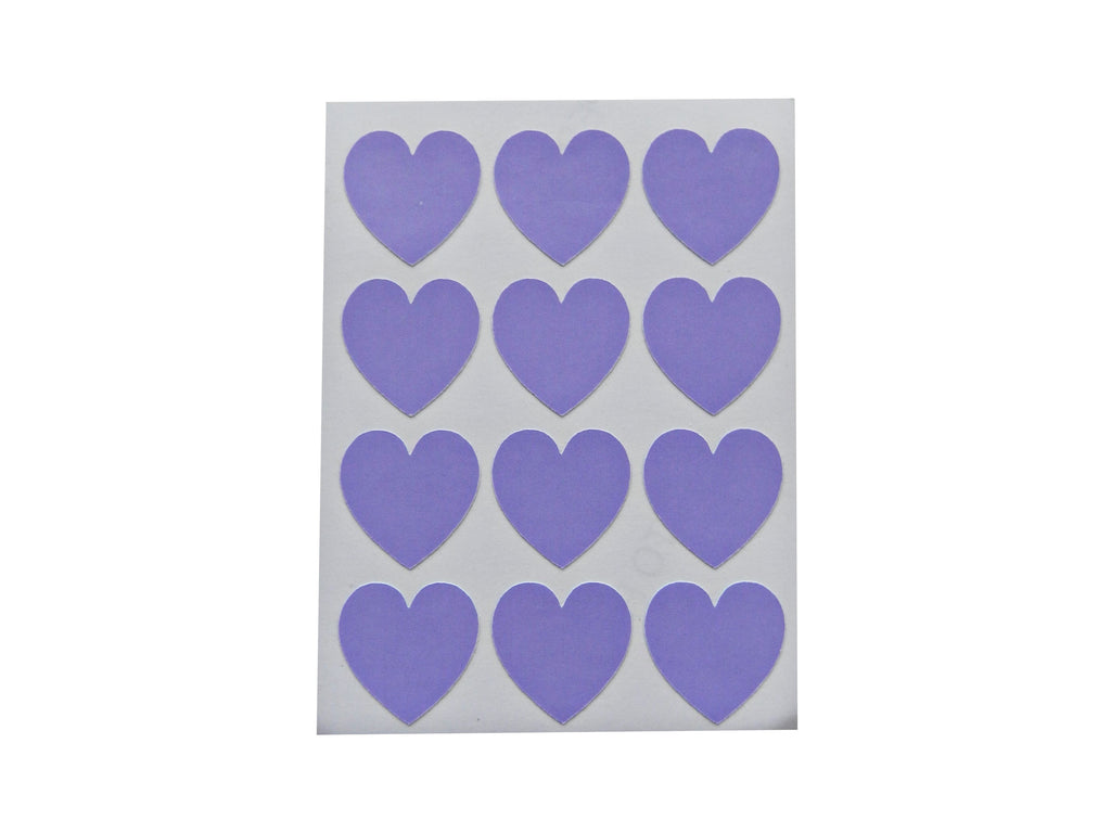 Lilac Heart Sticker Labels - Decochic