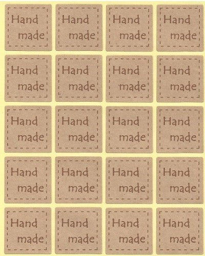 Etichette Adesive Hand Made Craft - Decochic