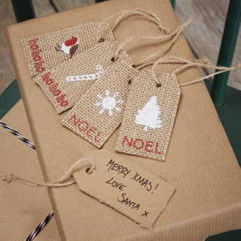 Tags Tags in Christmas Jute - Decochic