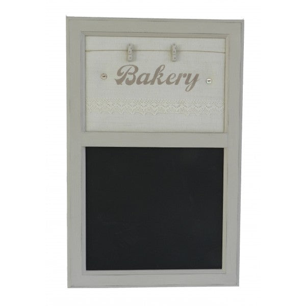 Notice Board with Blackboard in Vintage Bakery Fabric - Decochic