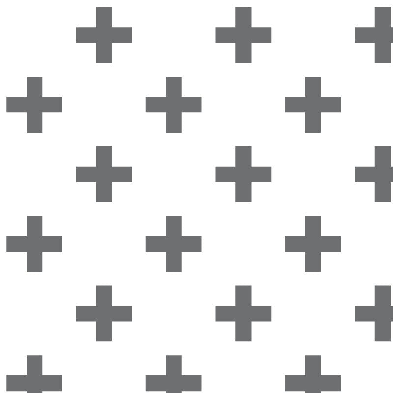 Carbon Crosses FABRIC 53 x 133,5 cm - Decochic