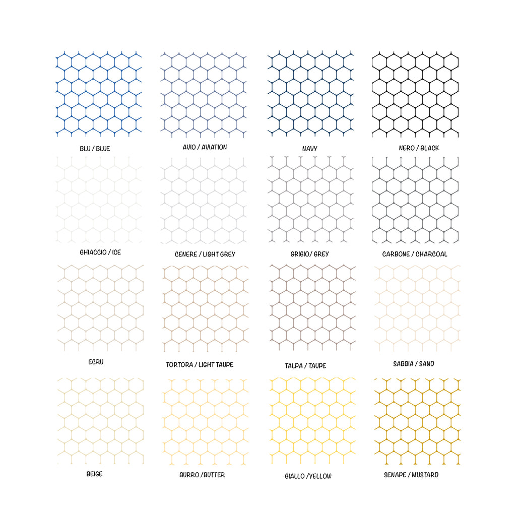 Self-adhesive Beehive Film White Background - More Colors Available - Decochic