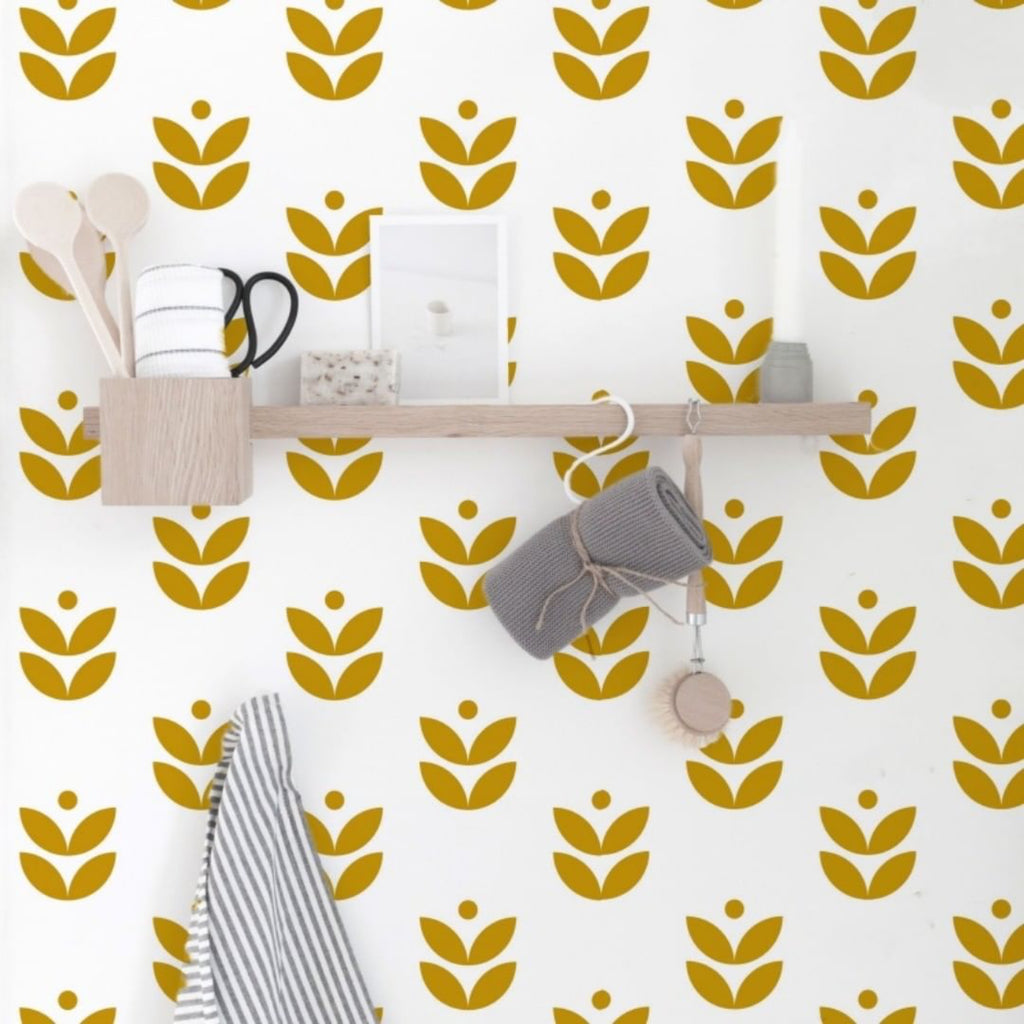 Scandi Flower Self-Adhesive Film - More Colors Available - Decochic