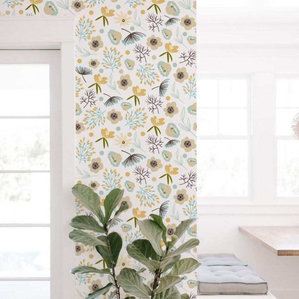 Colored Flowers Self-Adhesive Film - Decochic