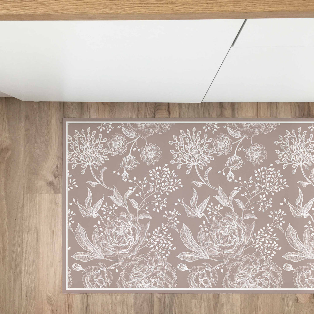 Tappeto in Vinile Fiori Country Talpa 50x300 - Decochic