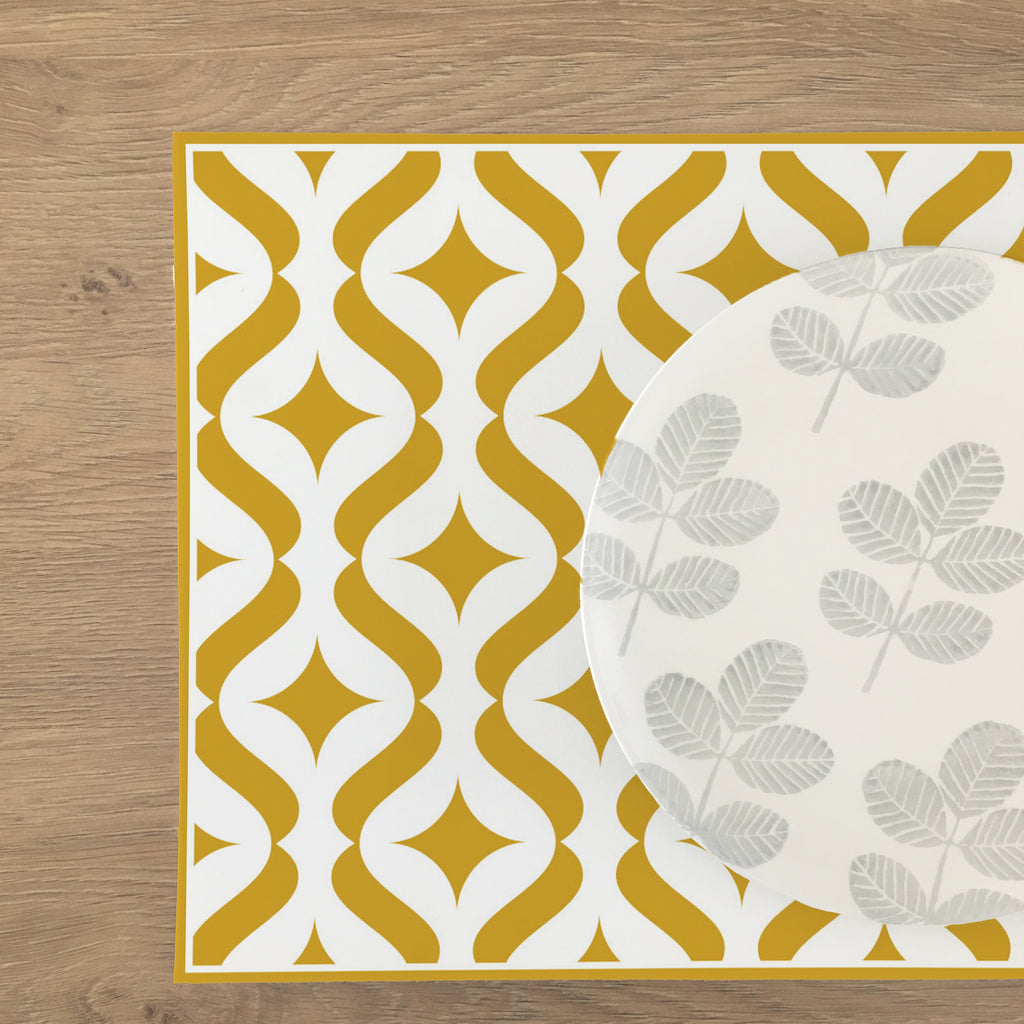 Modern Vinyl Placemat - Multiple Colors Available - Decochic