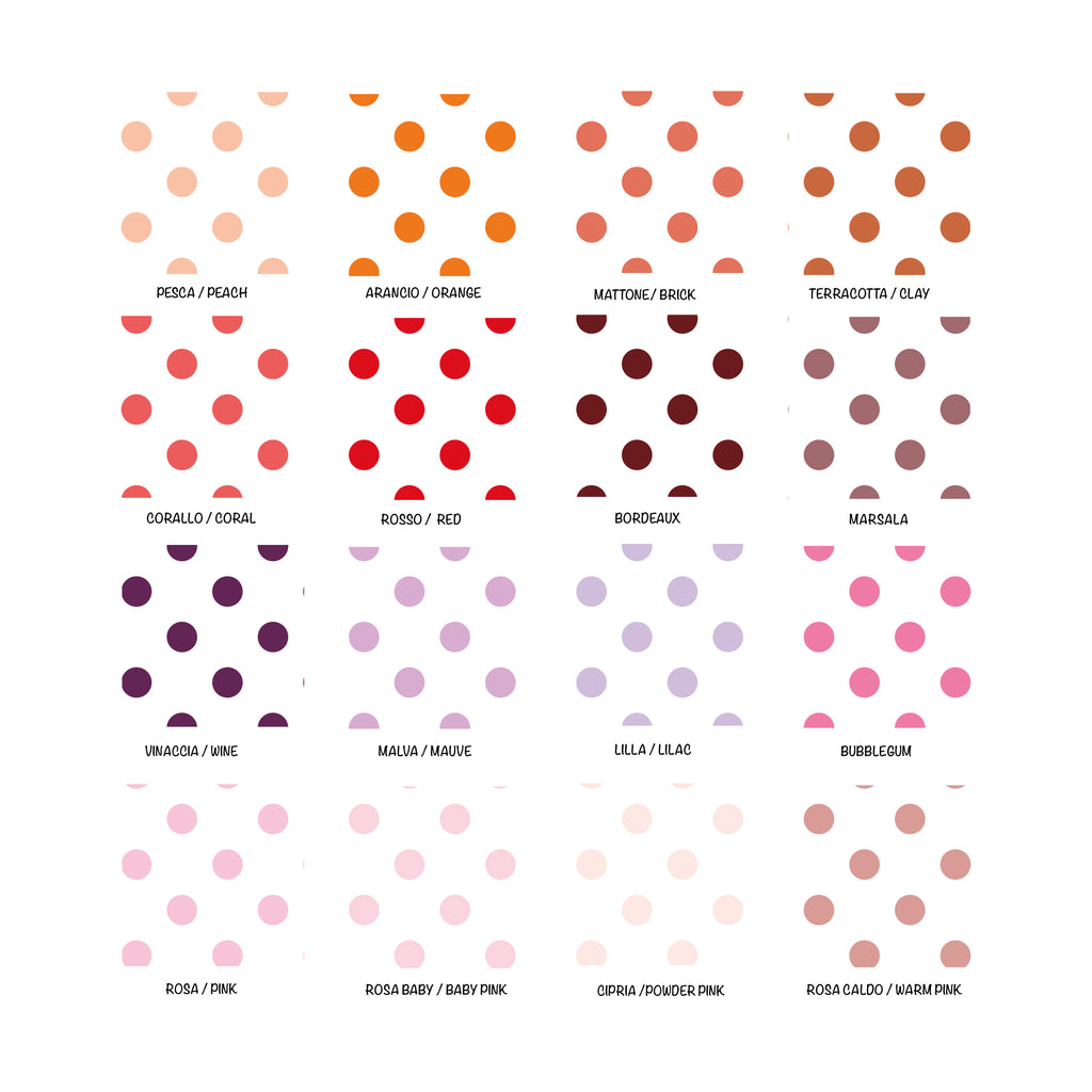 Self-Adhesive Medium Dots White Background - More Colors Available - Decochic