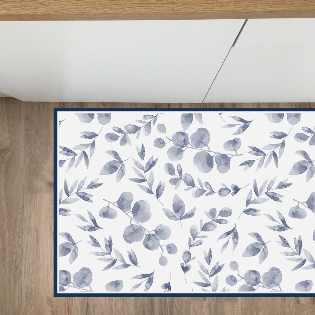 Tappeto in Vinile 50x100 cm Acquerello Navy - Decochic