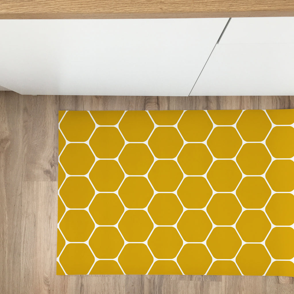 Beehive Vinyl Rug - More Colors Available - Decochic