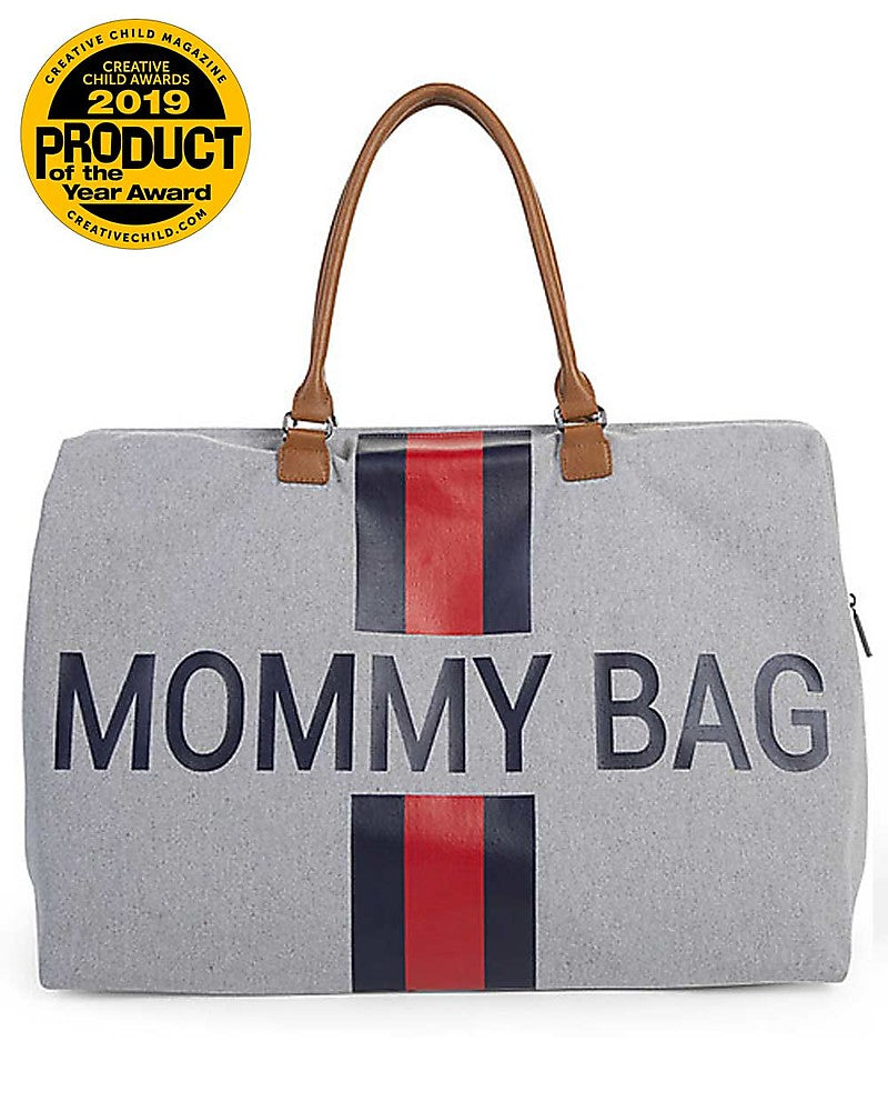 Changing Bag Mommy Stripes Blue / Red Childhome - Decochic