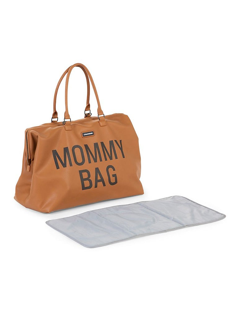 Changing Bag Mommy Brown Leather Effect Childhome - Decochic
