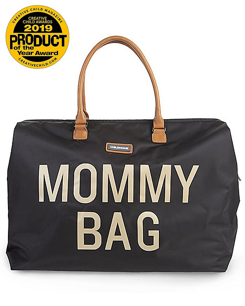 Changing Bag Mommy Bag Black and Gold Childhome - Decochic