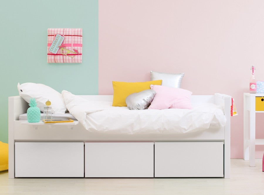 Bopita Children's Bed with Sliding Drawers 90x200 cm - Decochic
