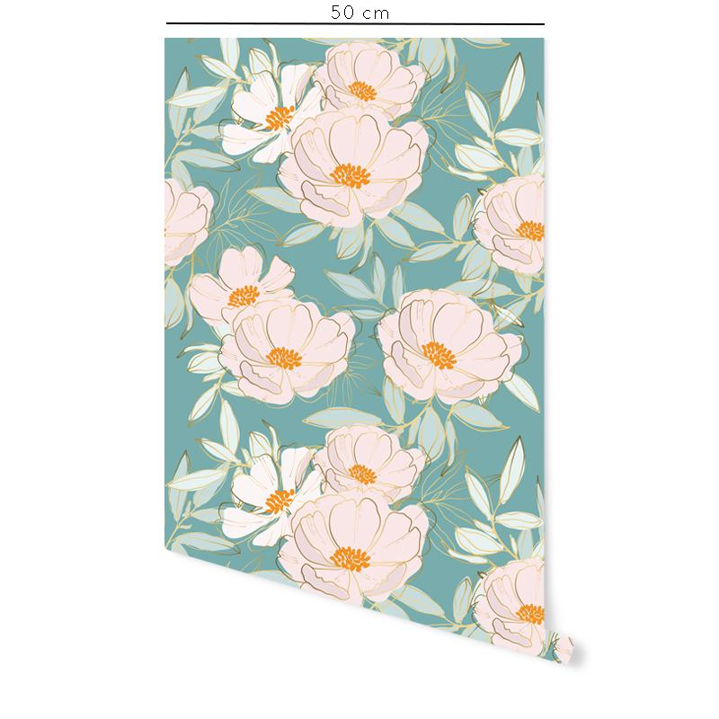 Pink Floral Self-Adhesive Film - Decochic
