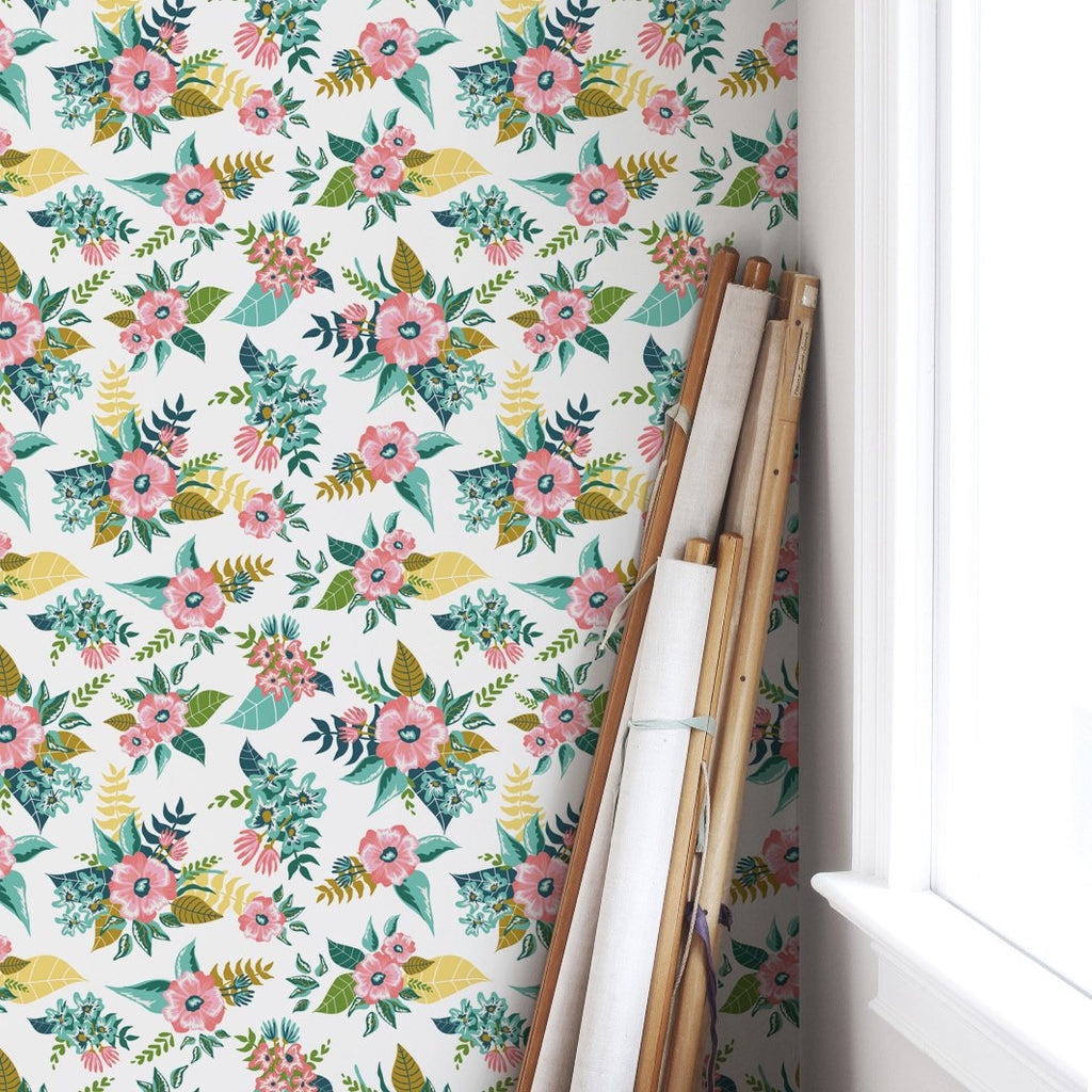 Tropical Flowers Self-Adhesive Film - Decochic