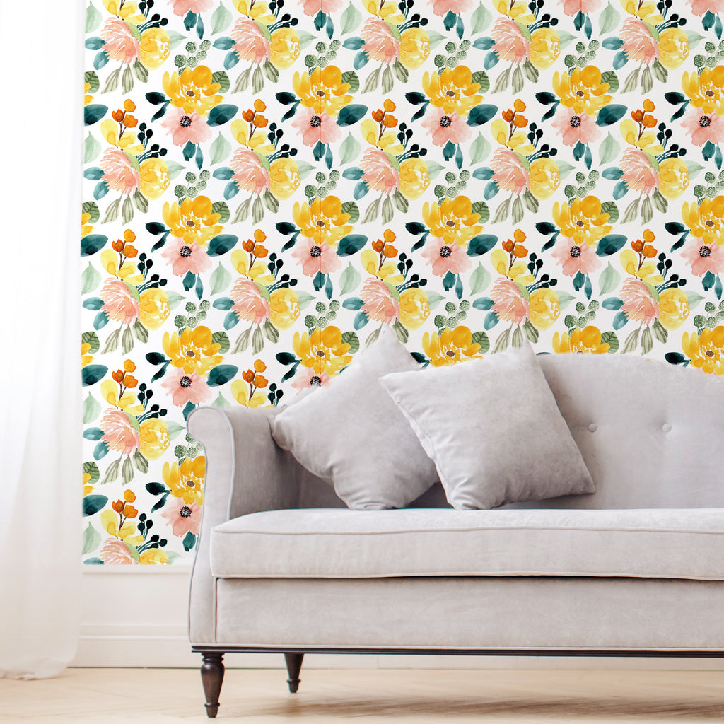 Watercolor Floral Self-Adhesive Film - Decochic