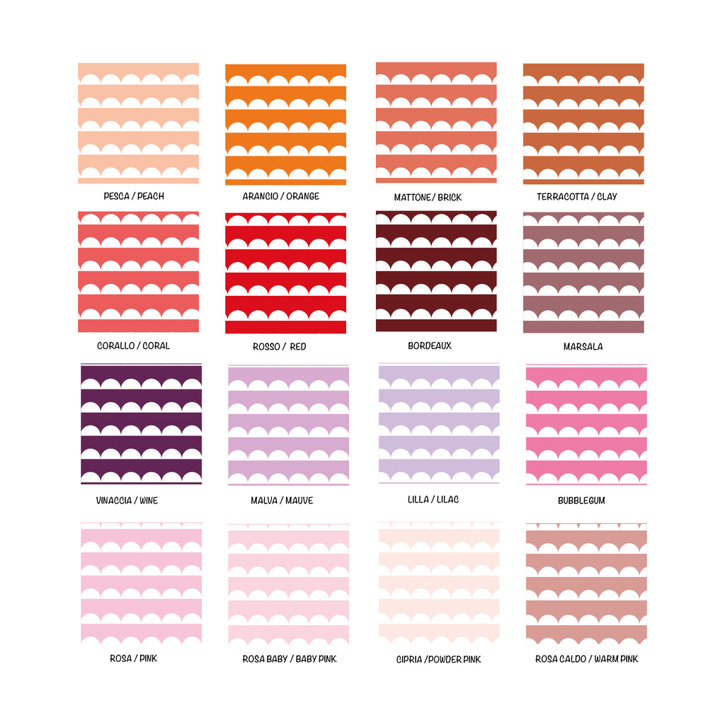 Self-Adhesive Halfmoon Film - More Colors Available - Decochic