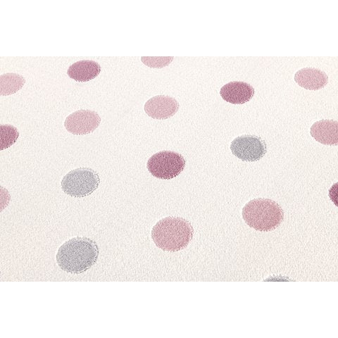 White Carpet with Pink and Gray Dots - Decochic