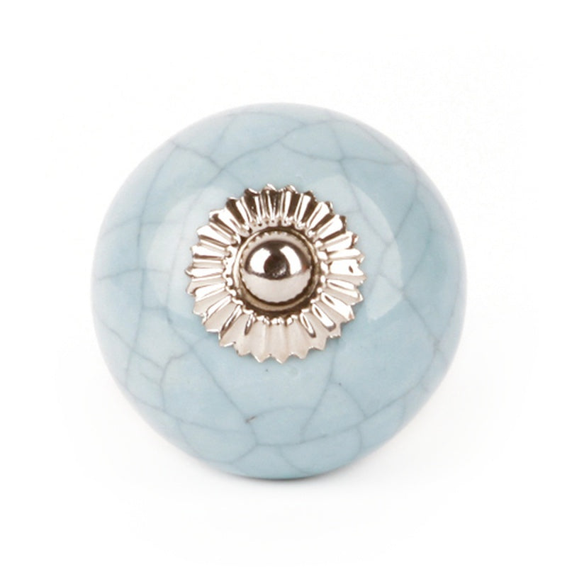 Large Shabby Blue Knob - Decochic