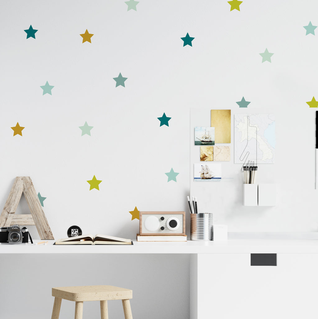 Colored Stars Stickers - More Color Variations Available - Decochic