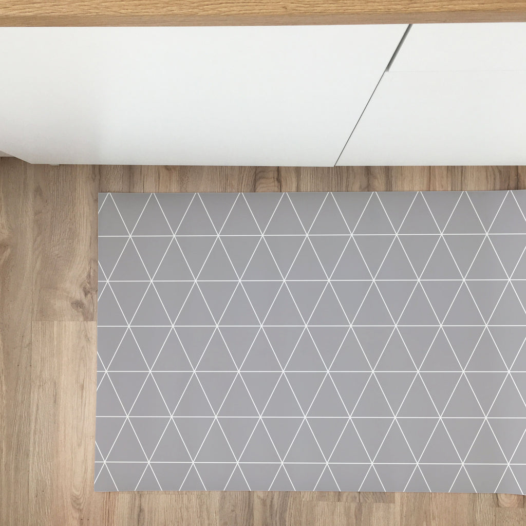 Triangles Vinyl Rug - More Colors Available - Decochic