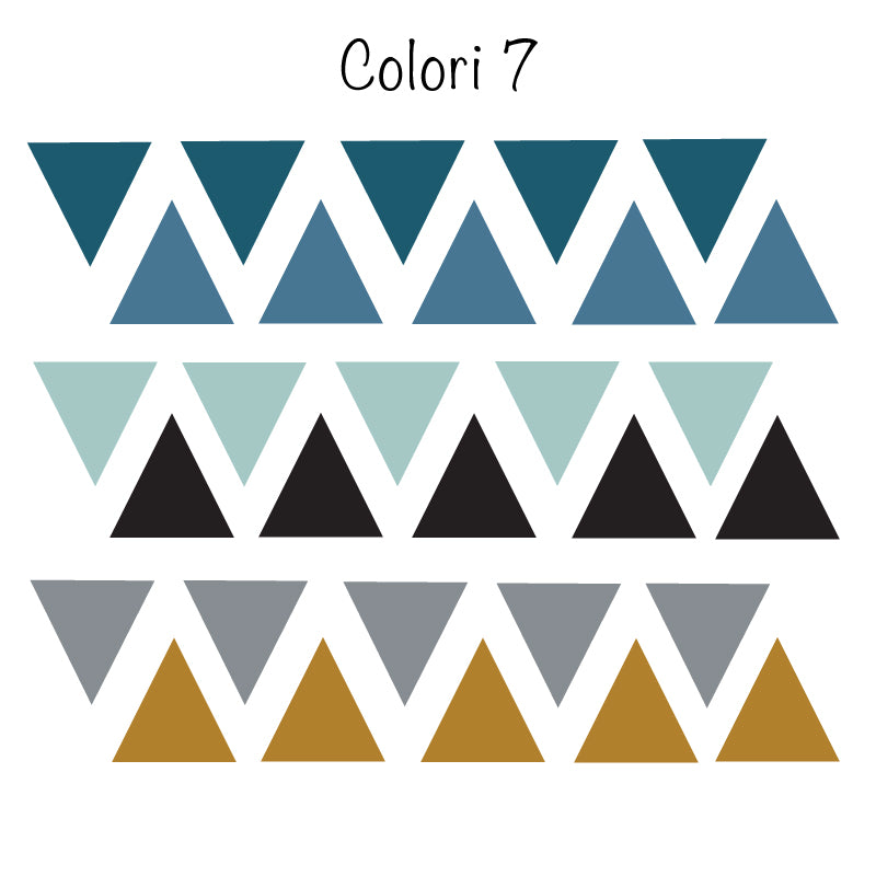 Colored Triangle Stickers - More Color Variations Available - Decochic