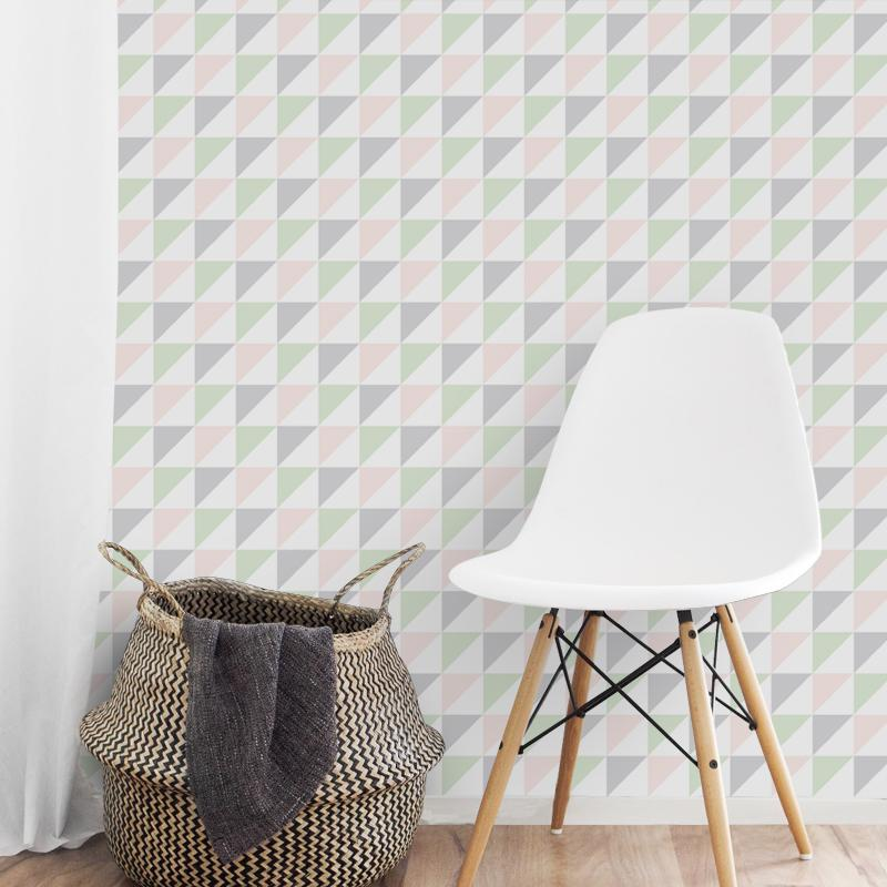 Self-Adhesive Colored Triangles Film - Decochic