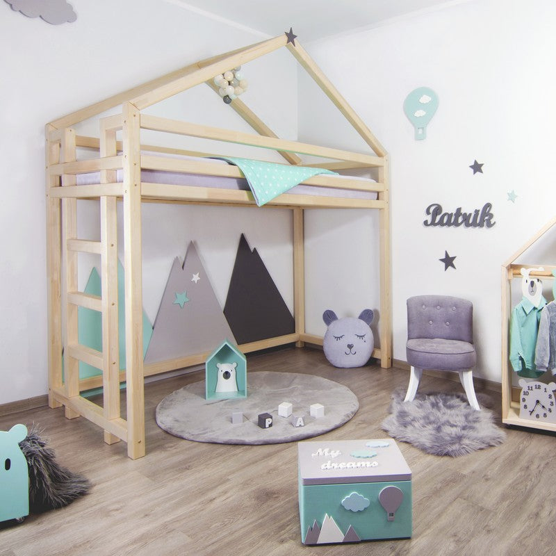 Montessori Loft Bed Toppy Benlemi-More Colors and Sizes Available - Decochic